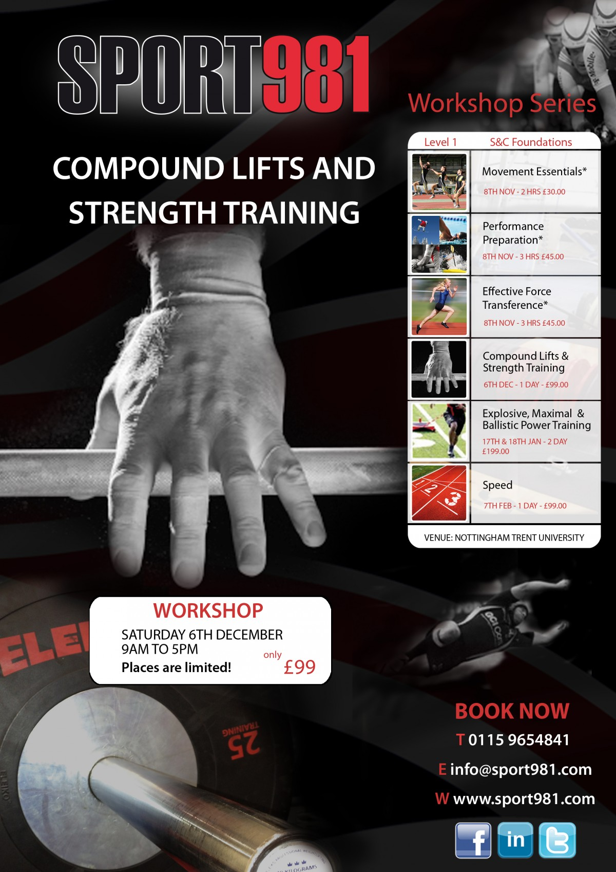 Compound lifts and Strength Training Workshop